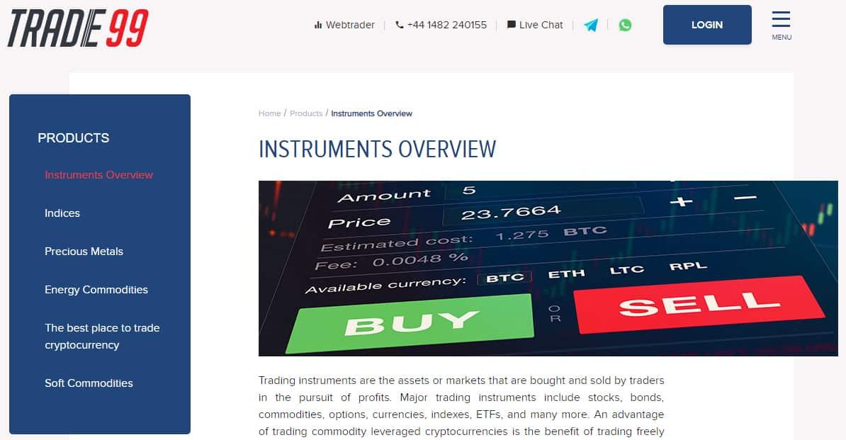 Trade99 - Trading Instruments